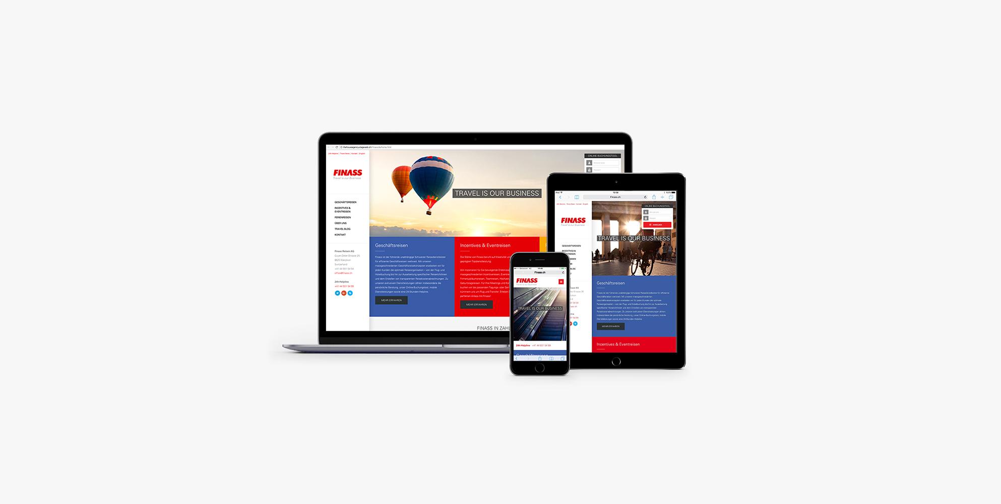 The House modernisiert den Webauftritt der Finass Reisen AG